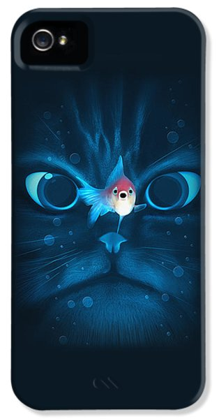 Cat Fish IPhone 5 / 5s Case by Nicholas Ely
