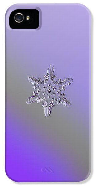 Snowflake Photo - Heart-powered Star IPhone 5 / 5s Case by Alexey Kljatov