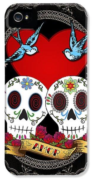 Love Skulls II IPhone 5 / 5s Case by Tammy Wetzel