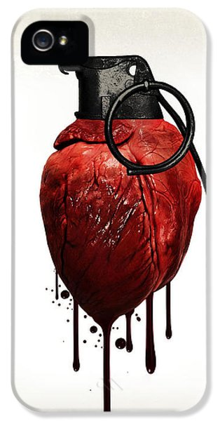 Emotion iPhone 5 Cases - Heart grenade iPhone 5 Case by Nicklas Gustafsson