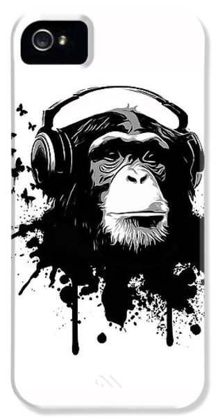 Stained iPhone 5 Cases - Monkey business iPhone 5 Case by Nicklas Gustafsson