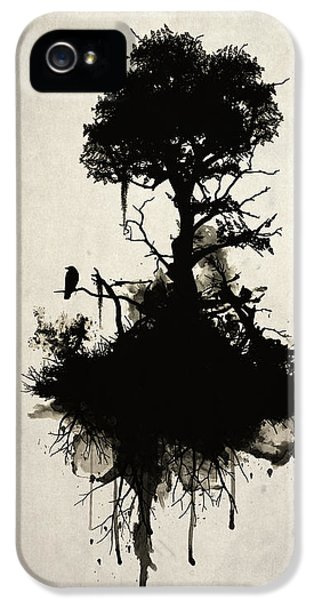 Smoke iPhone 5 Cases - Last Tree Standing iPhone 5 Case by Nicklas Gustafsson