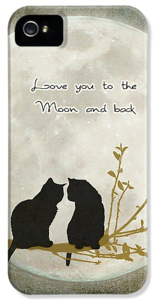 Emotion iPhone 5 Cases - Love you to the moon and back iPhone 5 Case by Linda Lees