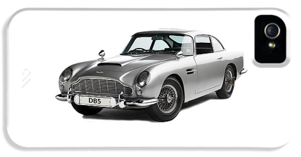 Classic Car iPhone 5 Cases - Aston Martin DB5 iPhone 5 Case by Mark Rogan