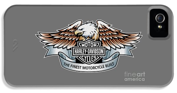 Poster iPhone 5 Cases - The Finest Motorcycle Built iPhone 5 Case by Mark Rogan