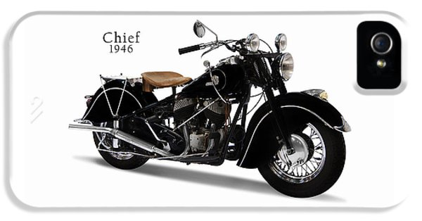 Indian iPhone 5 Cases - Indian Chief 1946 iPhone 5 Case by Mark Rogan