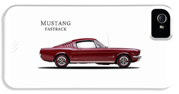 Muscle Car iPhone 5 Cases - Ford Mustang Fastback 1965 iPhone 5 Case by Mark Rogan
