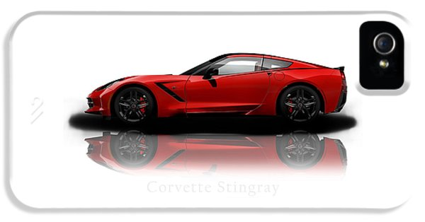 Muscle Car iPhone 5 Cases - Chevrolet Corvette Stingray iPhone 5 Case by Mark Rogan