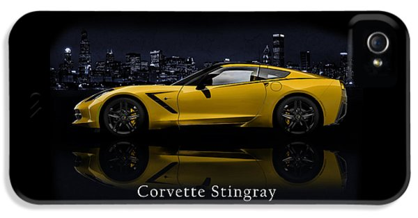 Muscle Car iPhone 5 Cases - Corvette Stingray iPhone 5 Case by Mark Rogan