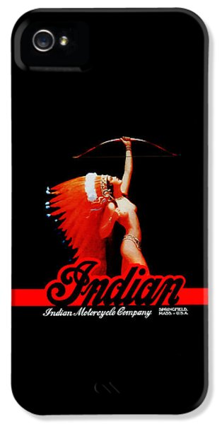 Indian iPhone 5 Cases - The Indian Motorcycle Company iPhone 5 Case by Mark Rogan