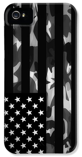 American Flag iPhone 5 Cases - American Camouflage iPhone 5 Case by Nicklas Gustafsson
