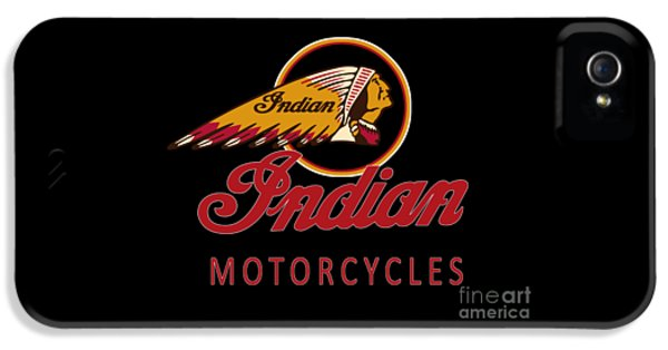 Indian iPhone 5 Cases - Indian Motorcycles iPhone 5 Case by Mark Rogan