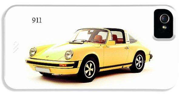 Classic Porsche 911 iPhone 5 Cases - Porsche 911 Targa iPhone 5 Case by Mark Rogan