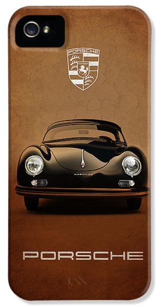 Car iPhone 5 Cases - Porsche 356 iPhone 5 Case by Mark Rogan
