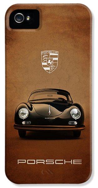 Classic Car iPhone 5 Cases - Porsche 356 iPhone 5 Case by Mark Rogan