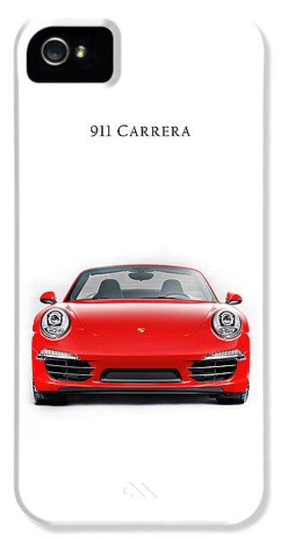 Classic Porsche 911 iPhone 5 Cases - Porsche 911 Carrera iPhone 5 Case by Mark Rogan