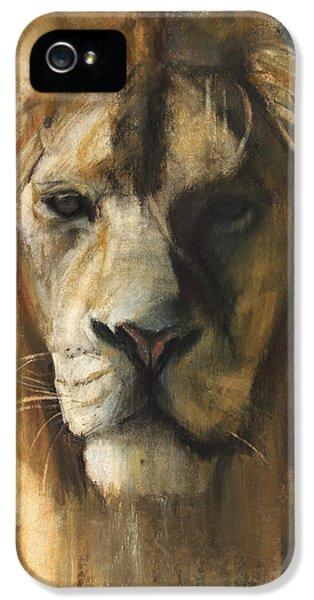 Mane iPhone 5 Cases - Asiatic Lion iPhone 5 Case by Mark Adlington