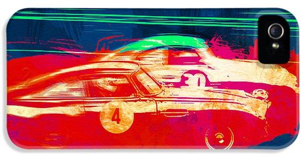 European Cars iPhone 5 Cases - Aston Martin vs Porsche iPhone 5 Case by Naxart Studio