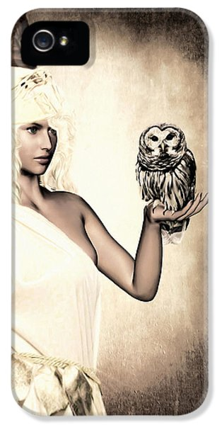 Owl iPhone 5 Cases - Athena iPhone 5 Case by Lourry Legarde