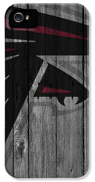 Atlanta Falcons Wood Fence IPhone 5 / 5s Case by Joe Hamilton