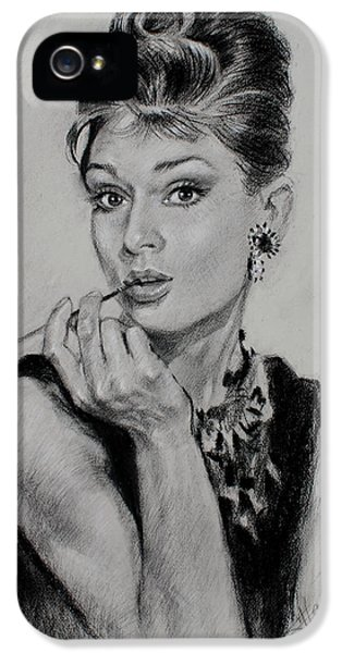 Audrey Hepburn IPhone 5 / 5s Case by Ylli Haruni