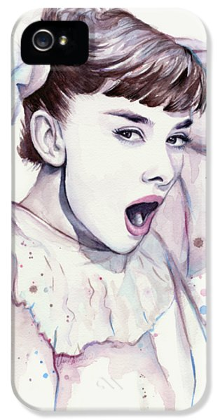 Audrey - Purple Scream IPhone 5 / 5s Case by Olga Shvartsur