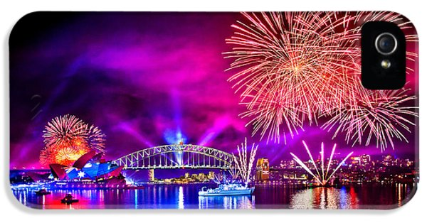 Firework iPhone 5 Cases - Aussie Celebrations iPhone 5 Case by Az Jackson