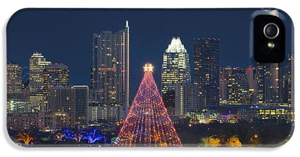 Austin Panorama Of The Trail Of Lights And Skyline IPhone 5 / 5s Case by Rob Greebon