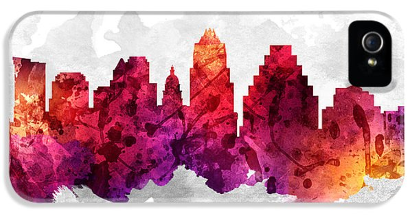 Austin Texas Cityscape 14 IPhone 5 / 5s Case by Aged Pixel