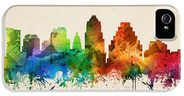 Austin Texas Skyline 05 IPhone 5 / 5s Case by Aged Pixel