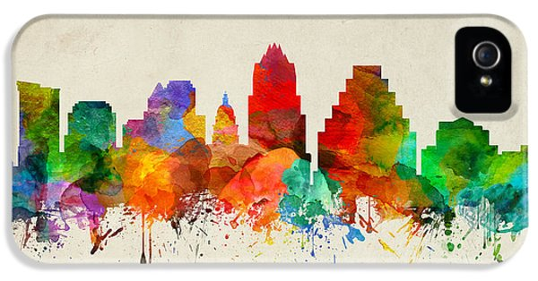 Austin Texas Skyline 22 IPhone 5 / 5s Case by Aged Pixel
