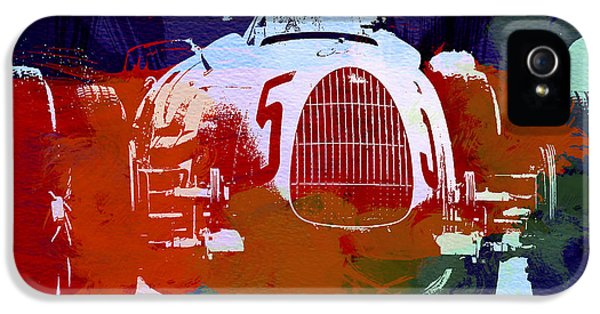 German Classic Cars iPhone 5 Cases - Autounion  iPhone 5 Case by Naxart Studio