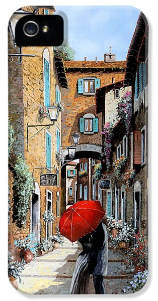Street Scene iPhone 5 Cases - Baci Nel Vicolo iPhone 5 Case by Guido Borelli