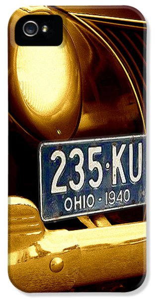 Classic Car iPhone 5 Cases - Back In The Day iPhone 5 Case by Kenneth Krolikowski