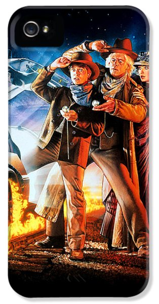 Back To The Future Part IIi 1990 IPhone 5 / 5s Case by Caio Caldas
