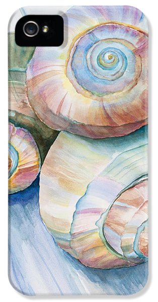 Balance In Spirals Watercolor Painting IPhone 5 / 5s Case by Michelle Wiarda
