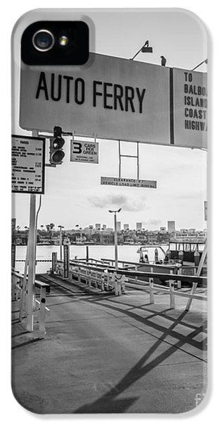 Newport Harbor iPhone 5 Cases - Balboa Island Ferry in Newport Beach California iPhone 5 Case by Paul Velgos