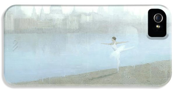 Ballerina iPhone 5 Cases - Ballerina on the Thames iPhone 5 Case by Steve Mitchell