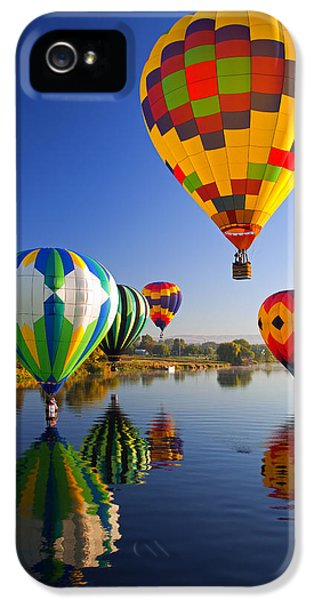 Balloon iPhone 5 Cases - Balloon Reflections iPhone 5 Case by Mike  Dawson