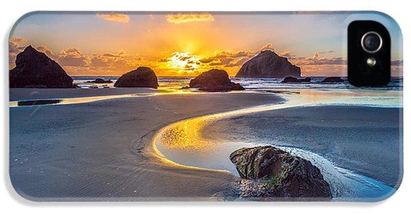 Oregon Coast iPhone 5 Cases - Bandon Face Rock iPhone 5 Case by Robert Bynum