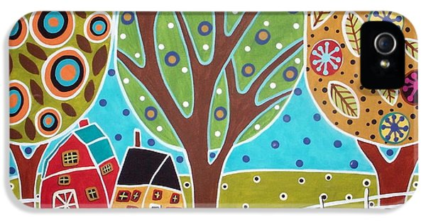 Mexican iPhone 5 Cases - Barn Trees And Garden iPhone 5 Case by Karla Gerard