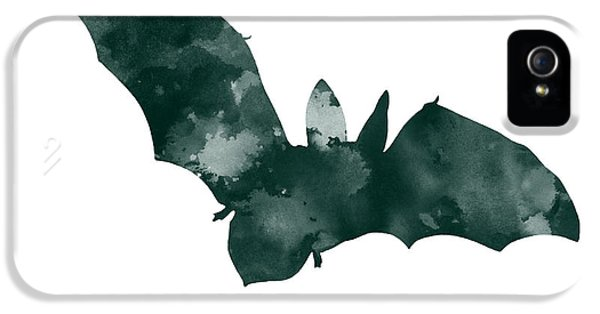 Bat Minimalist Watercolor Painting For Sale IPhone 5 / 5s Case by Joanna Szmerdt