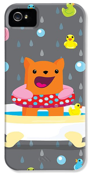 Children iPhone 5 Cases - Bath time  iPhone 5 Case by Seedys