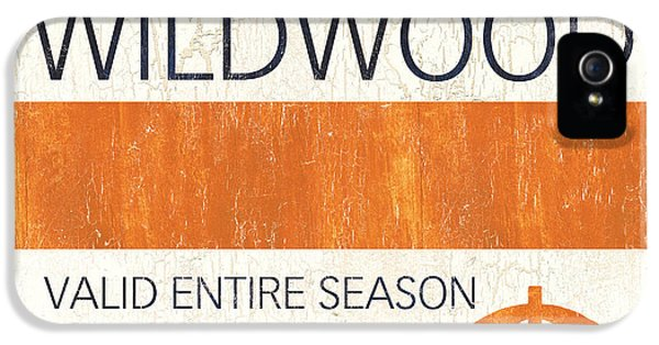 Badge iPhone 5 Cases - Beach Badge Wildwood iPhone 5 Case by Debbie DeWitt