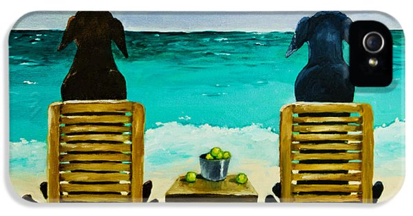 Whimsy iPhone 5 Cases - Beach Bums iPhone 5 Case by Roger Wedegis