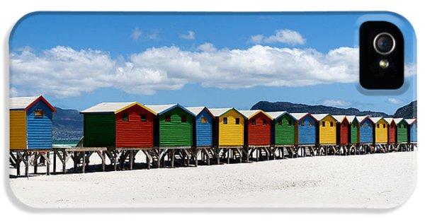 Hut iPhone 5 Cases - Beach cabins  iPhone 5 Case by Fabrizio Troiani