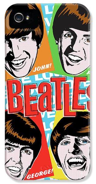 Paul Mccartney iPhone 5 Cases - Beatles Pop Art iPhone 5 Case by Jim Zahniser