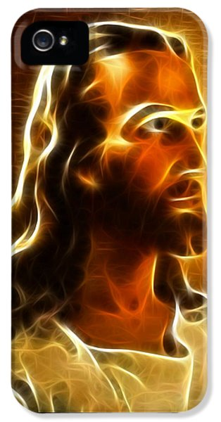 Happy Jesus iPhone 5 Cases - Beautiful Jesus Portrait iPhone 5 Case by Pamela Johnson