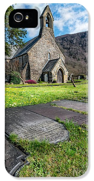 Burial iPhone 5 Cases - Beddgelert Church iPhone 5 Case by Adrian Evans