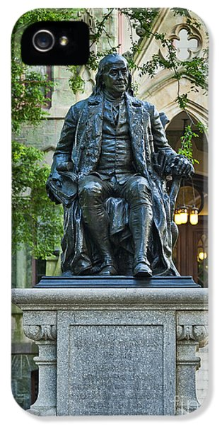 Ben Franklin At The University Of Pennsylvania IPhone 5 / 5s Case by John Greim